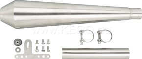 SILENCER f. YAMAHA SR500 (2J4/2J2), stainless steel with dull finish, e-marked