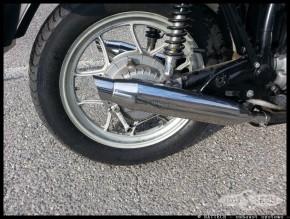 "2* AUSPUFF ""Cannonball"" v. Hattech, 35mm, Edelstahl poliert, m. EG-ABE, f. BMW R 45 / R 65"