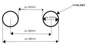 "BÜGEL, Rahmenbügel, Loop, Ø25,4mm (1"")/180mm, universal, extra lang"