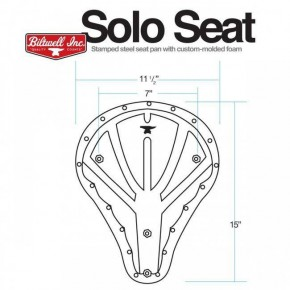 Solo SEAT Biltwell Bobber Tuck 'N Roll lengthwise stitching