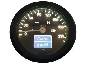 TACHO, elektronisch, mit Kontrollleuchten, 60mm, schwarz