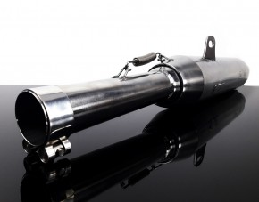 "2* SILENCER / exhaust system ""Cannonball"" f. Hattech, 38mm, stainless steel, polished, ""e""-marked, f. BMW R-models / 5 / 6 / 7"