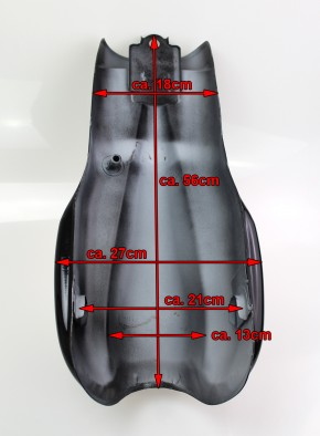 Cafe Racer TANK im BENELLI-Style schwarz glänzend lackiert