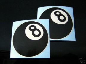 2 EIGHTBALL/8-Ball-Sticker f.CAFE-RACER/SR 500,XS/W 650